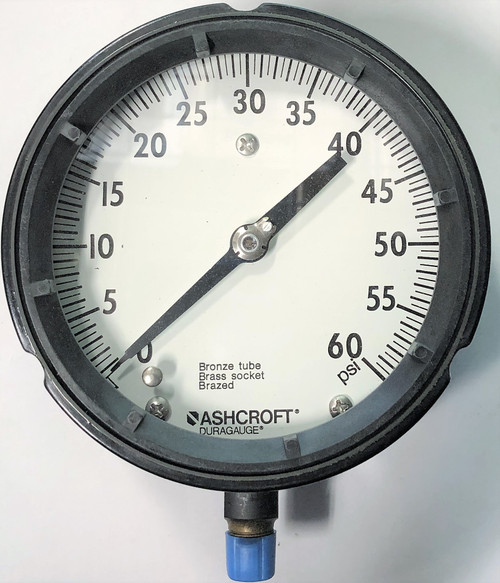 Ashcroft 451279AS 02L 60 PSI Duragauge Solid Front Pressure Gauge, 1279AS Type