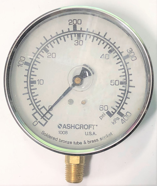 Ashcroft 10 1008 AL 02L 60#/KP Pressure Gauge, 100mm Face, Stainless Steel Case