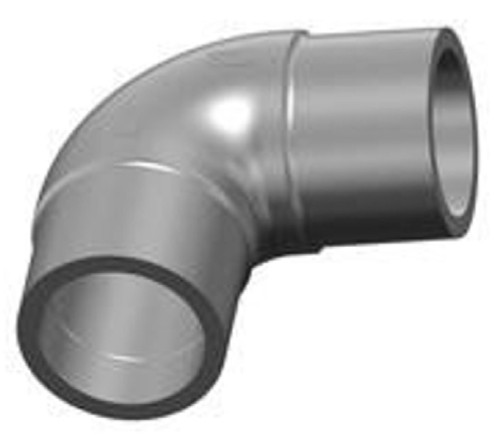 Georg Fischer Central Plastics 6912133 90 deg Butt Elbow Fitting, 2 inch IPS