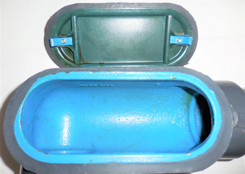 Thomas and Betts LR67 LR69 Ocal Blue Conduit Body and Cover, 2 in