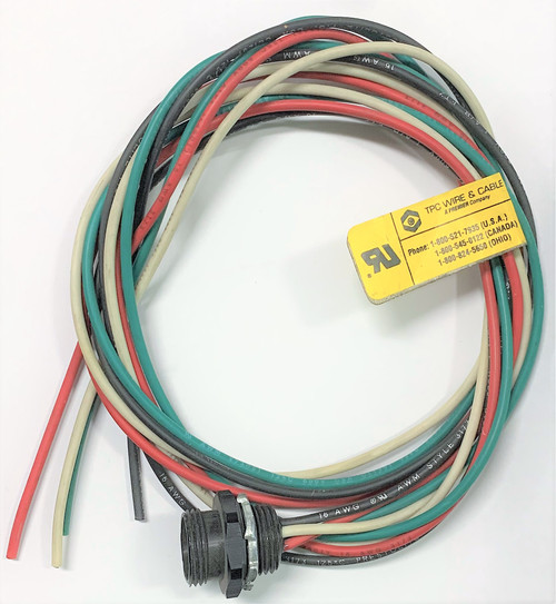 TPC 84700 Supre-TREX Mini Quick Disconnect Cordset, 4 Pin Female Receptacle, 48""