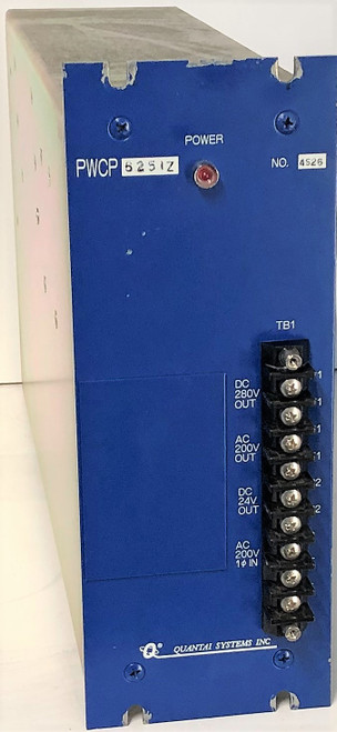 Quantai Systems Inc Cortec PWCP-6251Z PWCP6251Z Power Supply for Assembly Tool
