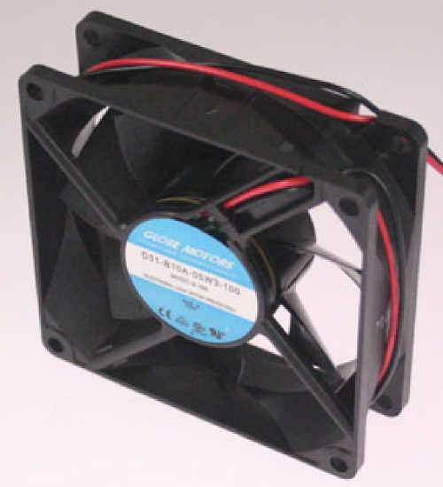 Globe Motors D31-B10A-05W3-100 DC Fan, 24V Power, 2700RPM, 80x80x25 mm