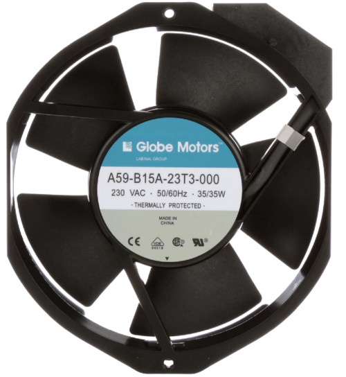 Globe Motors A59-B15A-23T3-000 Fan, 230VAC 50/60Hz 35W, 177/212 CFM