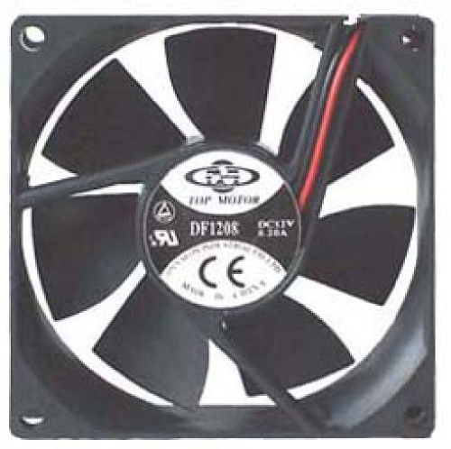 Top Motor DF1208SL Fan, 12VDC Power, 80x80x25 mm, Sleeve Bearing, 30CFM