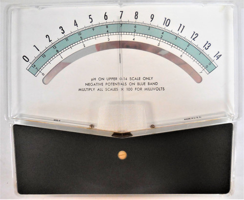 Unknown Panel Meter, pH on Upper 0-14 Scale, 1835-4, 321347