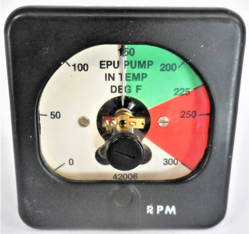 Key Instruments SL6-250 Style 466201 Panel Meter, 0-300 RPM Range