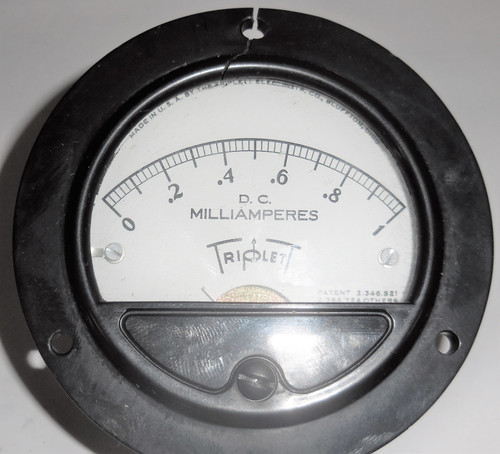 Weldcraft Triplett Unknown Panel Meter, 0 - 1 DC Miliamperes mA