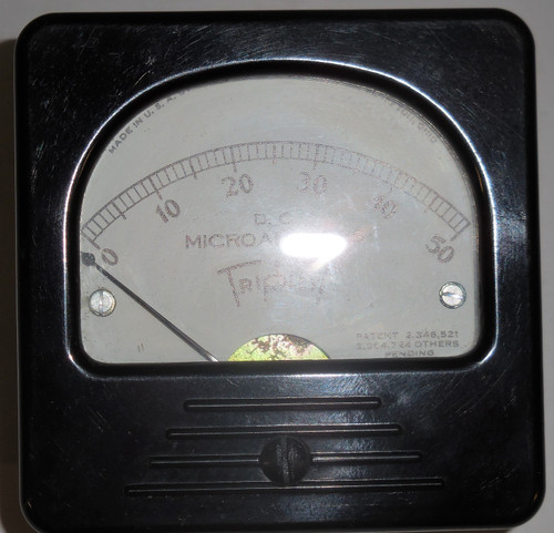 Triplett Unknown Panel Meter, 0-50 DC Microamperes