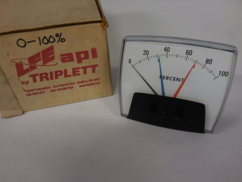 Triplett Unknown Panel Meter, V434, 0-100 Percent Range, 0-5A AC Input