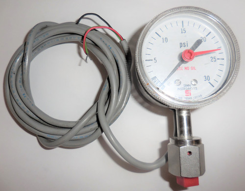 Span Inst Indicating Pressure Switch, IPS 122 Type 1, 0-30 PSI, 30VDC Max 1D119B