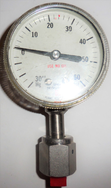 Span Theumling Indicating Pressure Switch, 30 in Hg to 0 to +60 PSI, 1D110