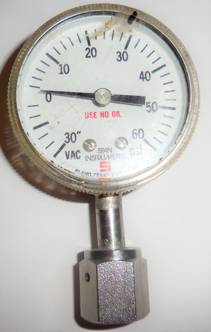 Span Theumling Indicating Pressure Switch, 30 in Hg to 0 to +60 PSI, 21-D110-01