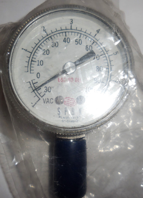 Span Indicating Pressure Switch, 30 in Hg VAC to 0 to +100 PSI, -1 to 1 bar