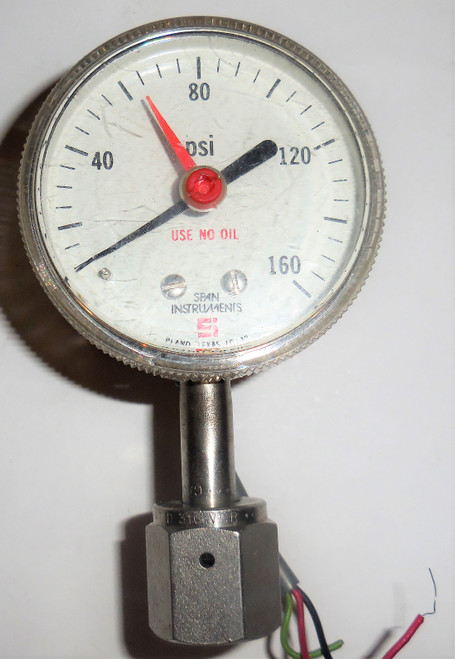 Span Theumling Indicating Pressure Switch, 0-160 PSI, 1D122, IPS122 Type 1