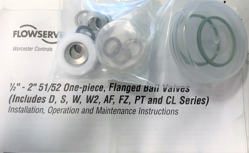 Flowserve FZRK51/52TM Repair Kit for Flanged Ball Valves