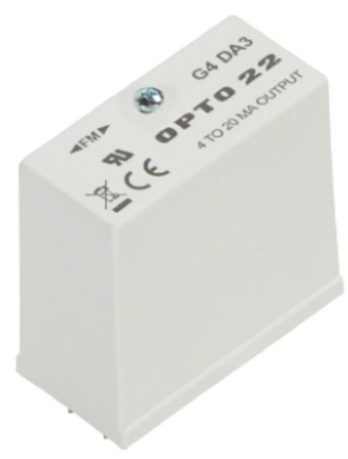 Opto 22 G4DA3 G4 Family DA3 Analog Output Module, 4-20 mA, 16 uA, 12 Bits Res