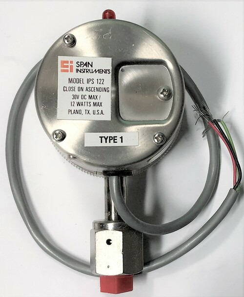 Span 1865575 IPS122 Indicating Pressure Switch, 0-300PSI, VCRSF Connection