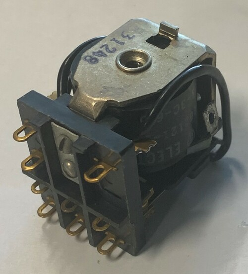 Guardian Electric 1205-3C6 Medium Power Relay, 6VDC Coil, 3PDT 8A Non-Inductive