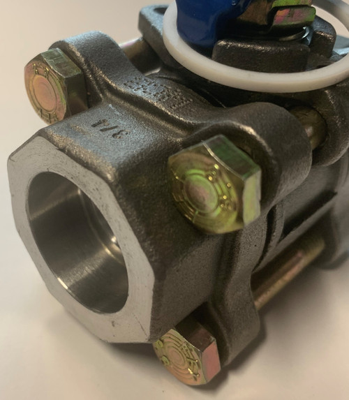 """Valmicro 99265 Ball Valve, 3/4"""" to 3/4"""" Socket Weld, PP 300 TP, WCB"""