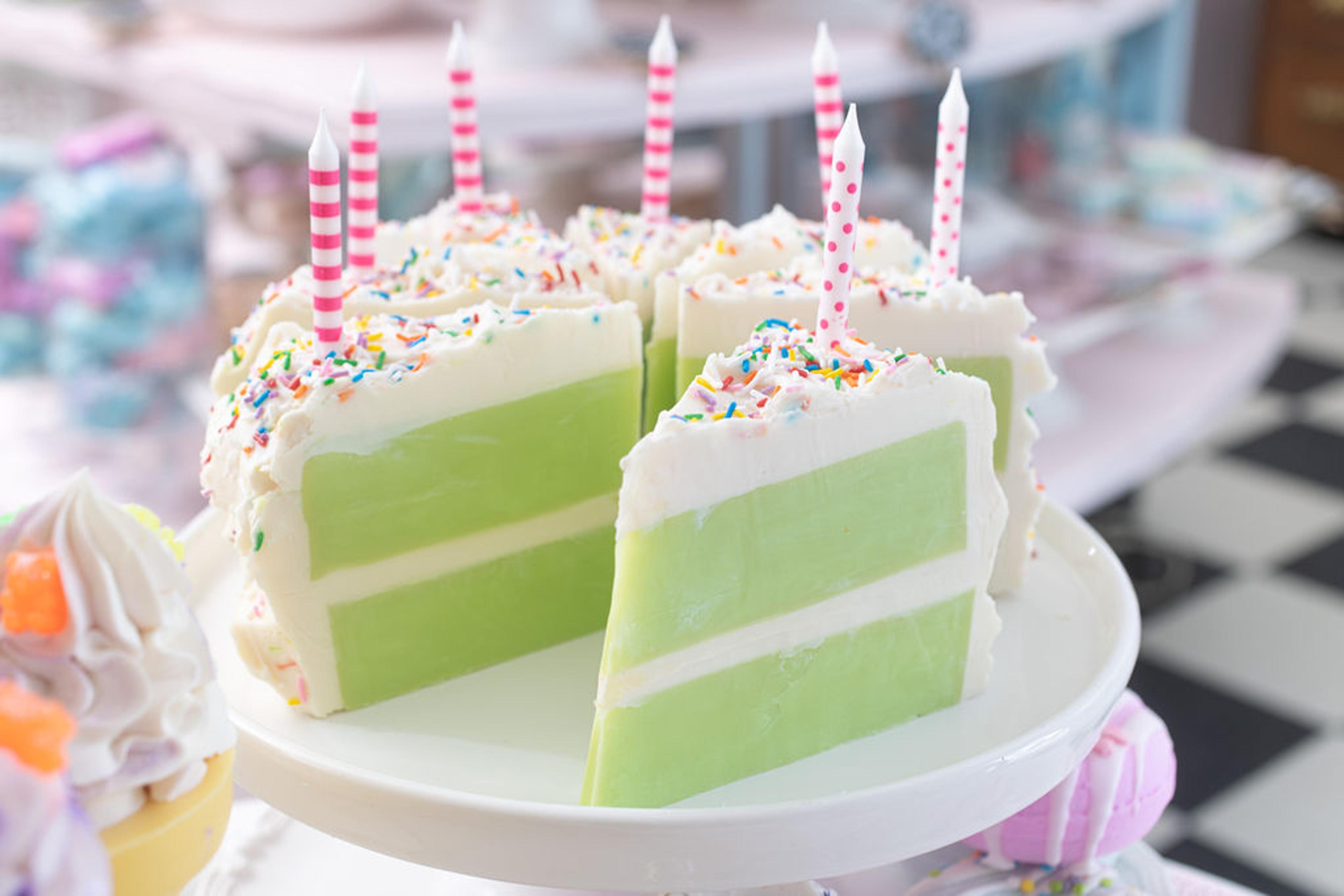 Coconut Lime Birthday Soap Cake (Slice)