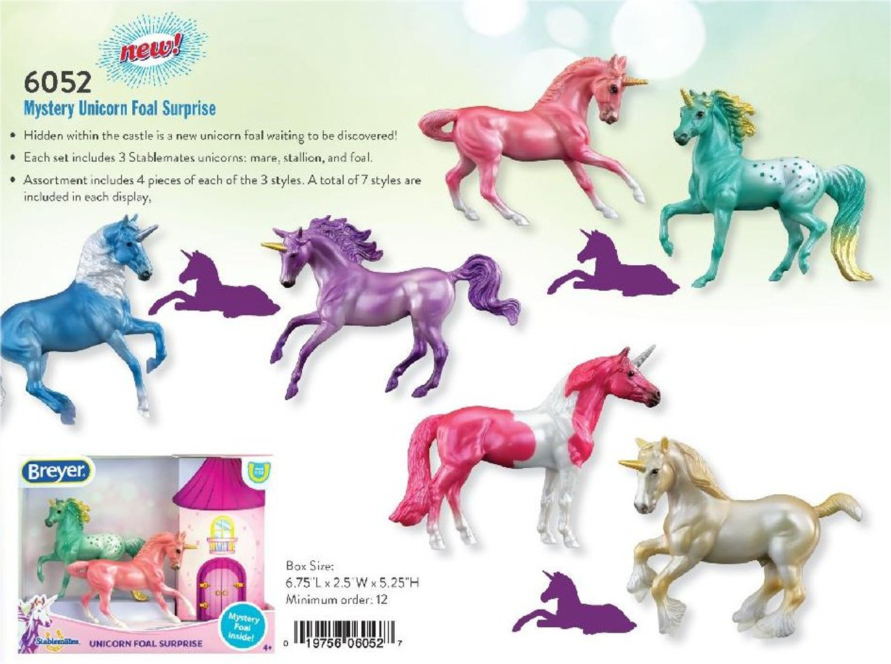 Breyer Horses Stablemate Mystery Unicorn Foal Surprise Includes All Three Different Sets Golden Oak Stables