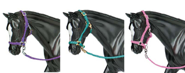 Breyer Horses Nylon Halter Set - Hot Colored PRIME PRICING plus FREE SHIPPING