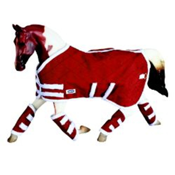 Breyer Horses Red Blanket and Shipping Boots