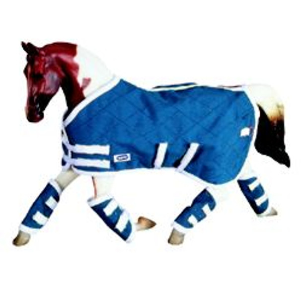Breyer Horses Blue Blanket and Shipping Boots