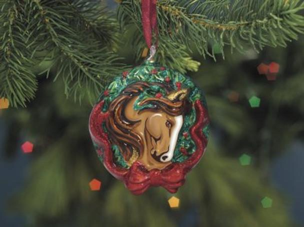 Breyer Horses 2010 Holiday Tis the Season Blown Glass Ornament