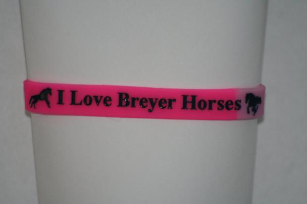 "Golden Oak Stables ""I Love Breyer Horses"" Bi-color Wristband"