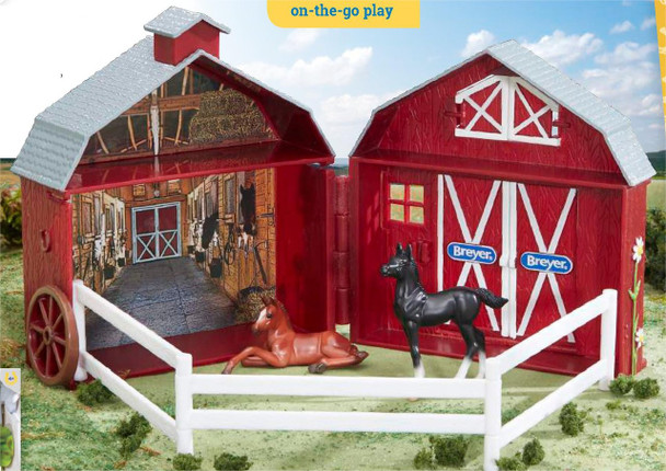 Breyer Horses Stablemates Friendship Foals and Pocket Barn