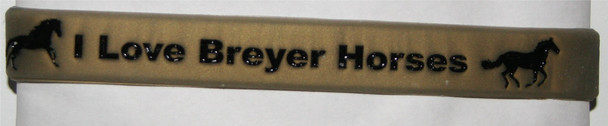"GOS ""I Love Breyer Horses"" Wristband Gold"