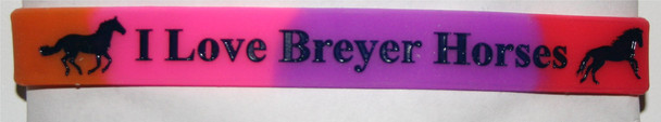 "GOS ""I Love Breyer Horses"" Wristband Rainbow"