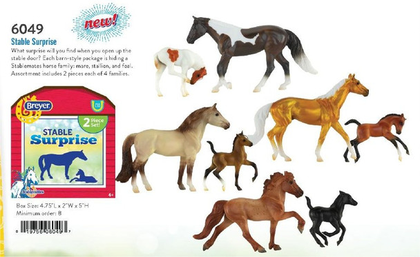 Breyer Horses Stablemate Stable Surprise (Includes all four different sets)