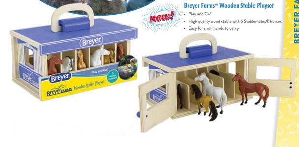 Breyer Horses Stablemates Farms Wooden Carry Case