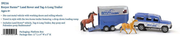 Breyer Horses Stablemates Land Rover and Tag-A-Long Trailer