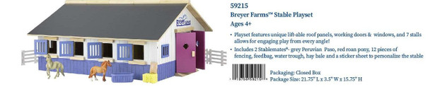 Breyer Horses Stablemates Farms Stable Playset