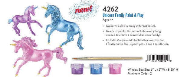 Breyer Horses Unicorn Family Paint and Play Set