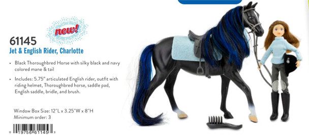 Breyer Horses Classics Jet and English Rider, Charlotte