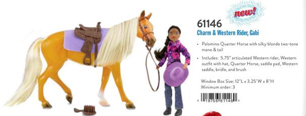Breyer Horses Classics Charm and Western Rider, Gabi