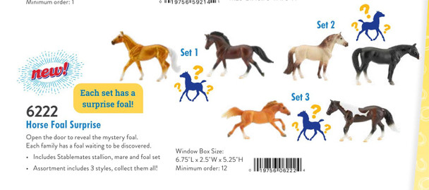 Breyer Horses Stablemate Horse Foal Surprise (All 3 Sets)