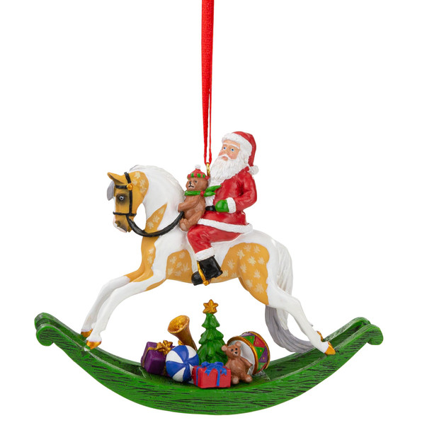 Breyer Horses 2021 Holiday Santa Ornament  - Rocking Horse
