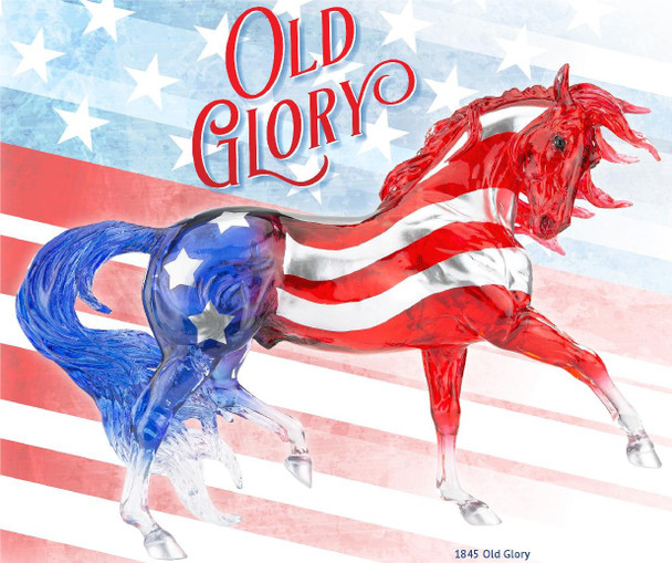 Breyer Horses Old Glory Spring Decorator Model; First Allocation - Very Limited In-Stock Immediate:  Shipment - One Per Order - Must Ship by Itself  -PRIME PRICING Plus Free Shipping