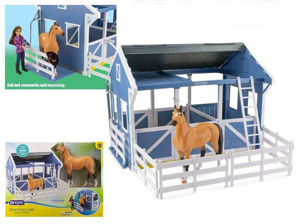 Breyer Horses Deluxe Country Stable  with Horse & Wash Stall