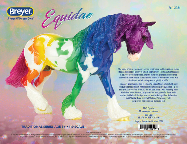 Breyer Horses Equidae SOLD OUT--  SHIPS FREE; Limited to One per Order per Customer; must ship by itself