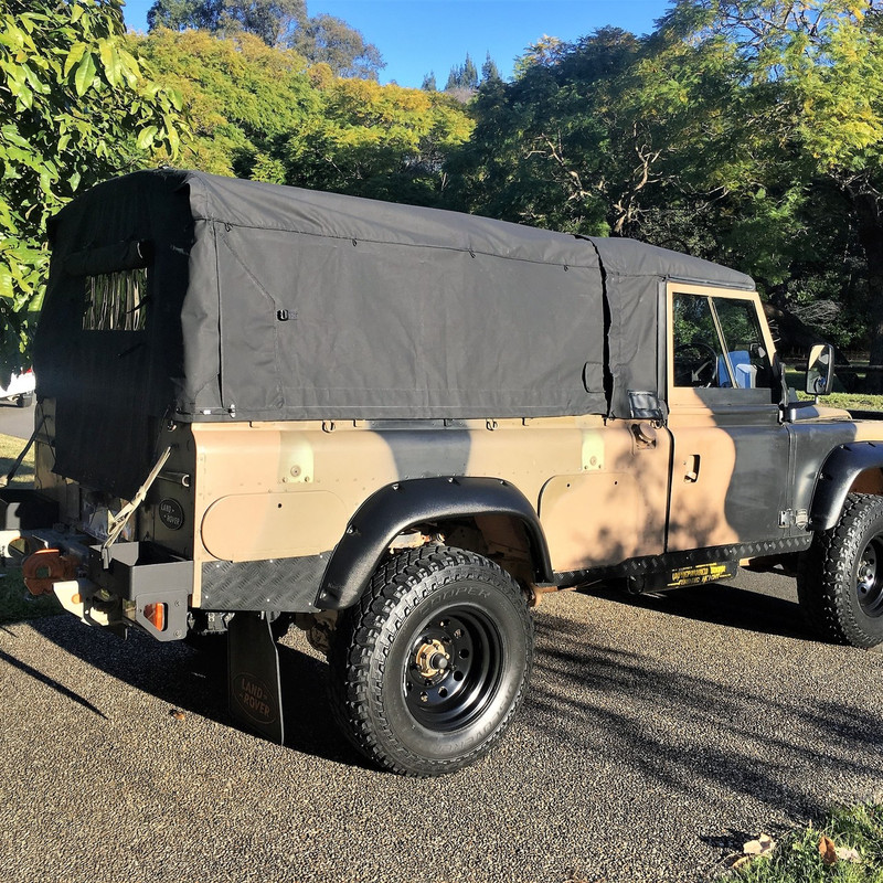 Land Rover 110 Perentie ex-military vehicle separable canopy canvas - Australian Made