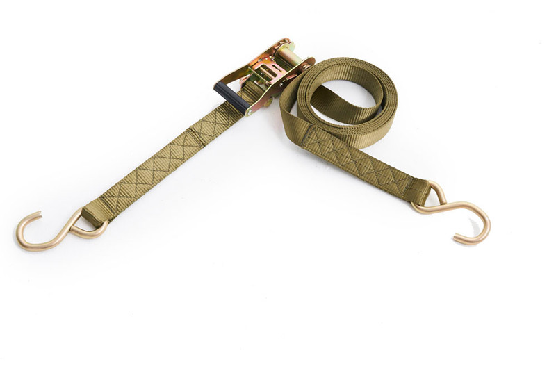 King Canvas  Khaki Ratchet Tie Down 35mm X 5m LC 550kg With S Hook