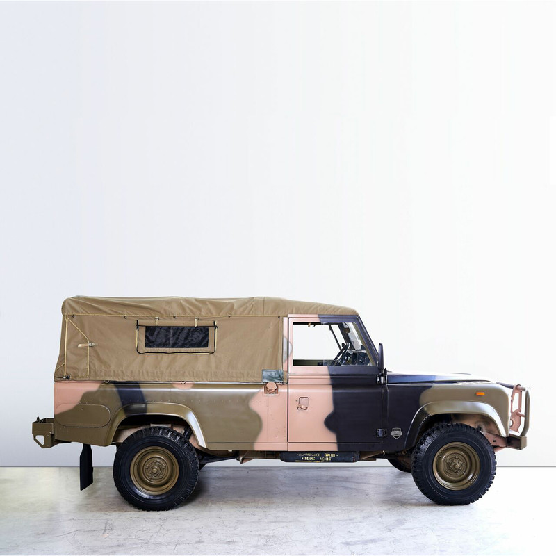 Land Rover 110 Perentie Ex-Military vehicle canvas canopy - ADVENTURER CANOPY - Light Sand