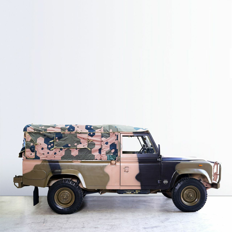 Land Rover 110 Perentie Ex-Military vehicle canvas canopy - SEPARABLE CANOPY - Geometrics